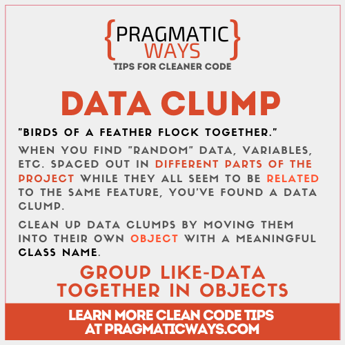data clump is a code smell